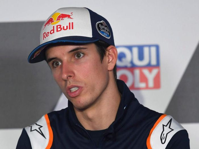 ALCANIZ, SPAIN - OCTOBER 22: Alex Marquez of Spain and Repsol Honda Honda speaks during the press conference pre-event ahead of the MotoGP of Teruel at Motorland Aragon Circuit on October 22, 2020 in Alcaniz, Spain. (Photo by Mirco Lazzari gp/Getty Images)