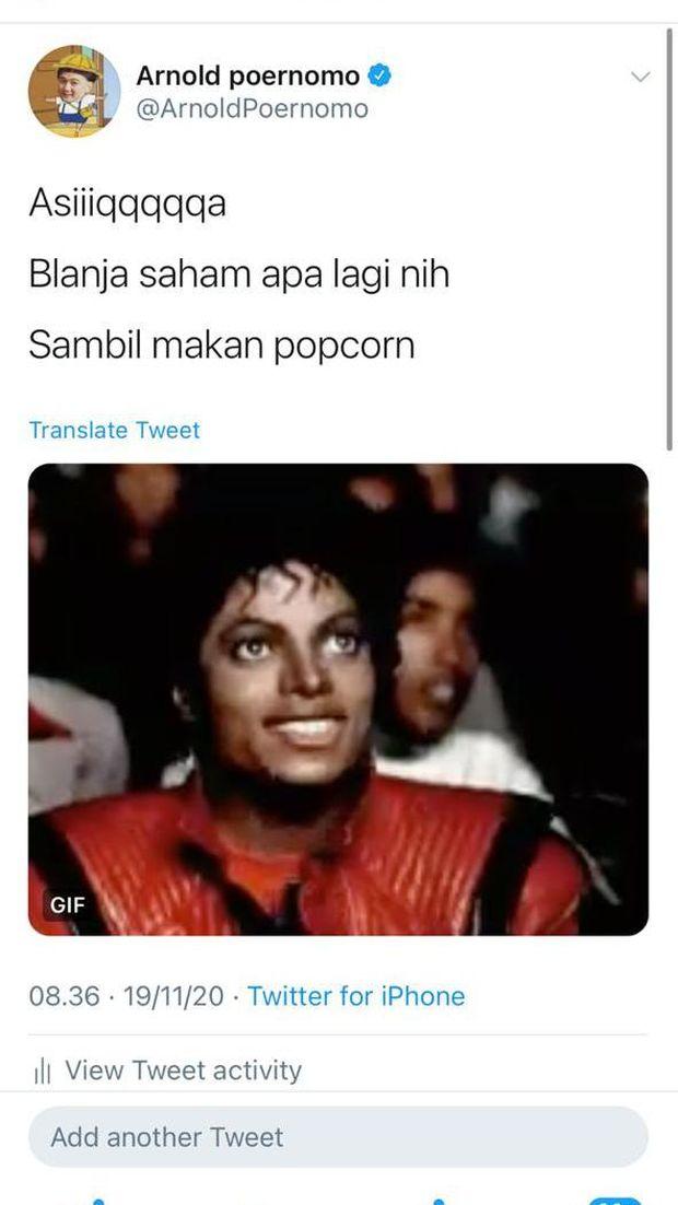 Chef Arnold Akan Belanja Saham Pakai Duit Lelang Popcorn 'Emas' Rp 50 Juta
