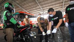 Wujudkan Jakarta Langit Biru, Seratusan Ojek Online Ikut Uji Emisi