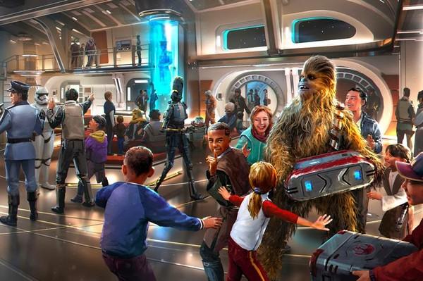 Hotel ini memberikan fasilitas berupa pelatihan lightsaber seperti di film Star Wars. (Disney World)