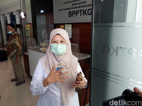 Kepala BPPTKG, Hanik Humaida di kantor BPPTKG, Yogyakarta, Kamis (19/11/2020)