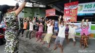 Lansia di Pengungsian Merapi Semangat Banget Ikut Senam