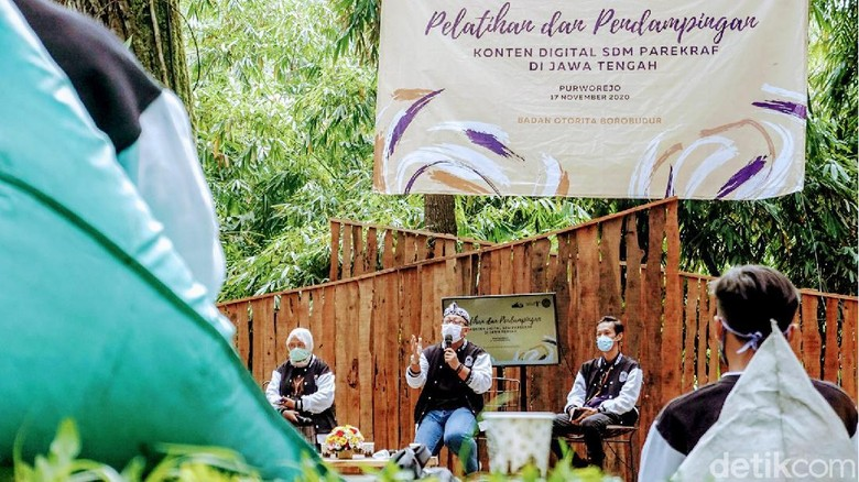 Peatihan konten digital digelar oleh Badan Otorita Borobudur