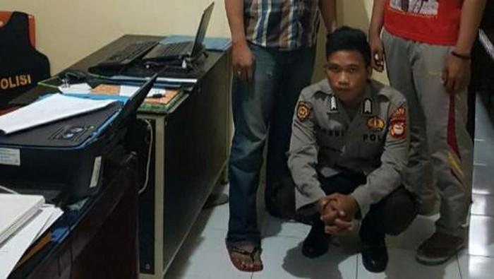 Polisi gadungan di Maros ditangkap saat apel ke rumah pacar (dok. Istimewa).