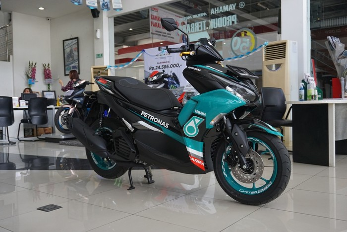 All New Yamaha Aerox 155 livery Petronas Sprinta Racing Team