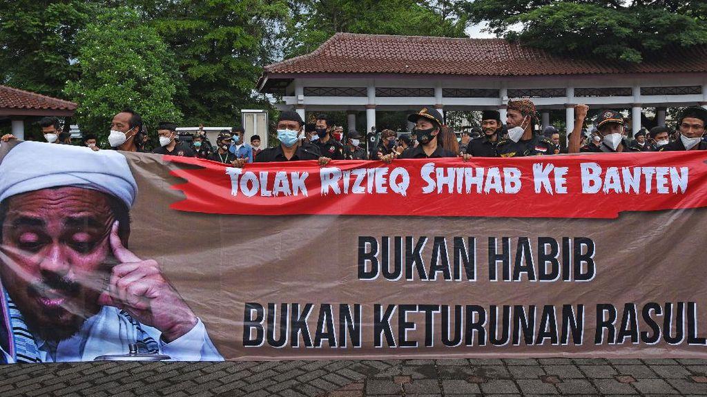 Demo Tolak Habib Rizieq juga Digelar di Serang Banten