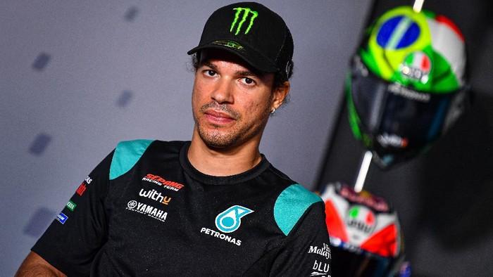 Franco Morbidelli pada konferensi pers jelang MotoGP Portugal 2020.
