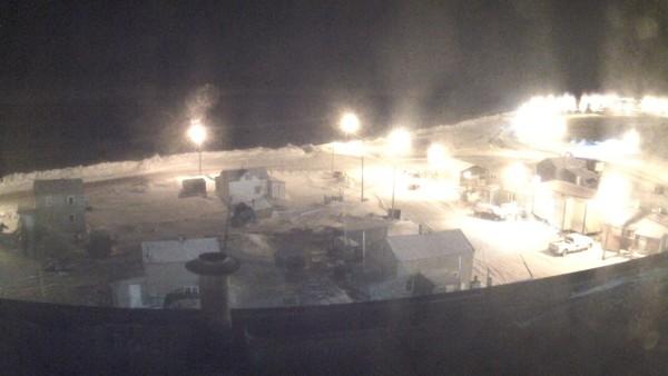 Kota kecil Utqiagvik terletak di utara Lingkaran Arktik. Kawasaninitelah memasuki fase kegelapan tahunan yang dikenal sebagai malam kutub (Foto: CNN)