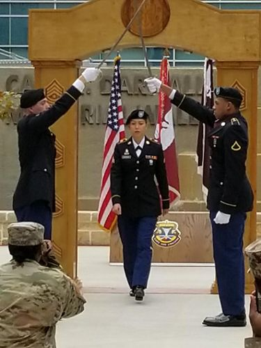 Kristania Virginia Besouw yang kini menjadi tentara wanita dan perawat di Amerika Serikat