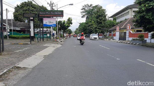 Lokasi motor sport CBR1000RR SP diseruduk pengemudi Ayla di Banyumas, Jumat (20/11/2020).