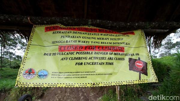 Diketahui, objek wisata Kali Talang ditutup sejak beberapa hari lalu menyusul meningkatnya status Gunung Merapi menjadi siaga.