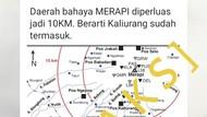 Viral Peta Bahaya Gunung Merapi Sejauh 10 Km, BPPTKG: Itu Peta 2010!