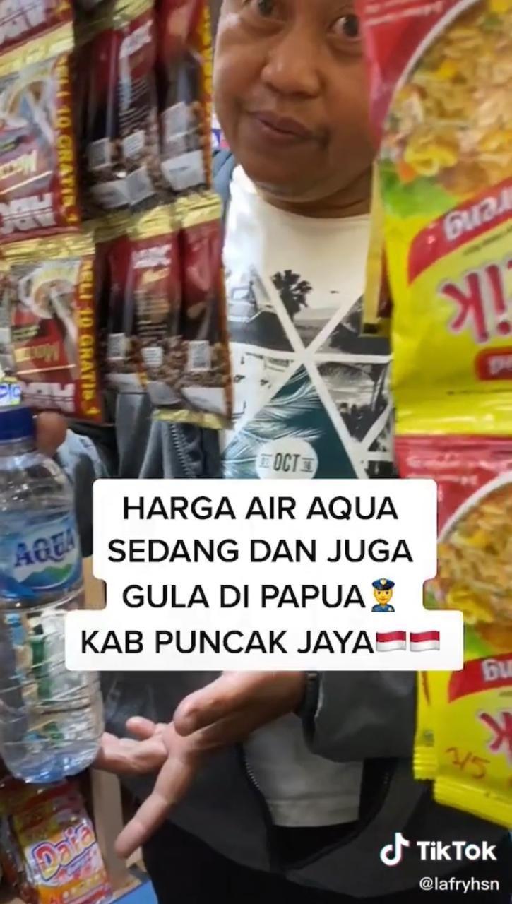 Viral Harga Air Mineral dan Gula Selangit di Papua, Netizen: Wajar Mahal