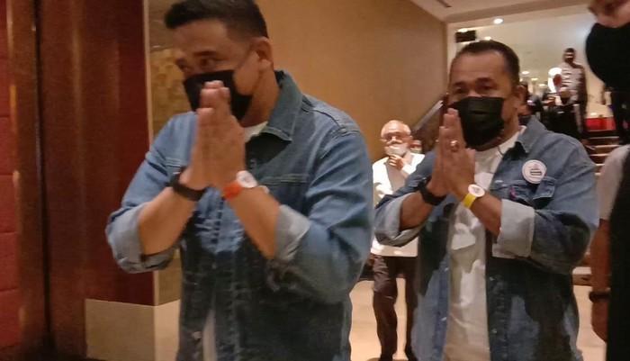 Bobby Nasution-Aulia Rachman saat debat Pilkada Medan (Ahmad Arfah-detikcom)