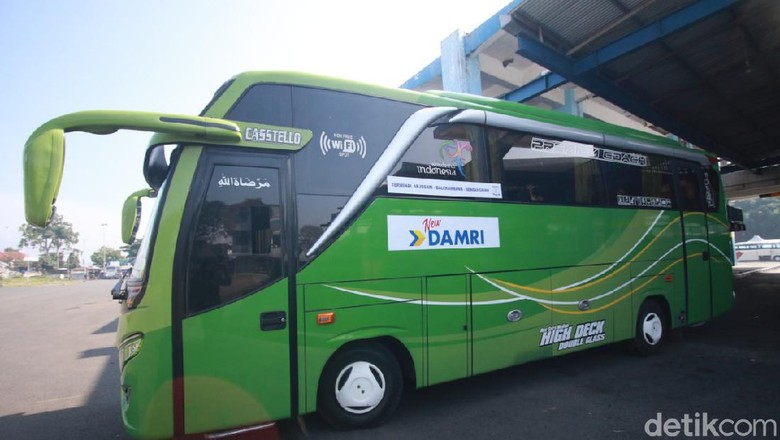 Bus Damri tujuan Terminal Arjosari-Sendangbiru kembali beroperasi. Armada ini tak beroperasi sejak awal November lalu.