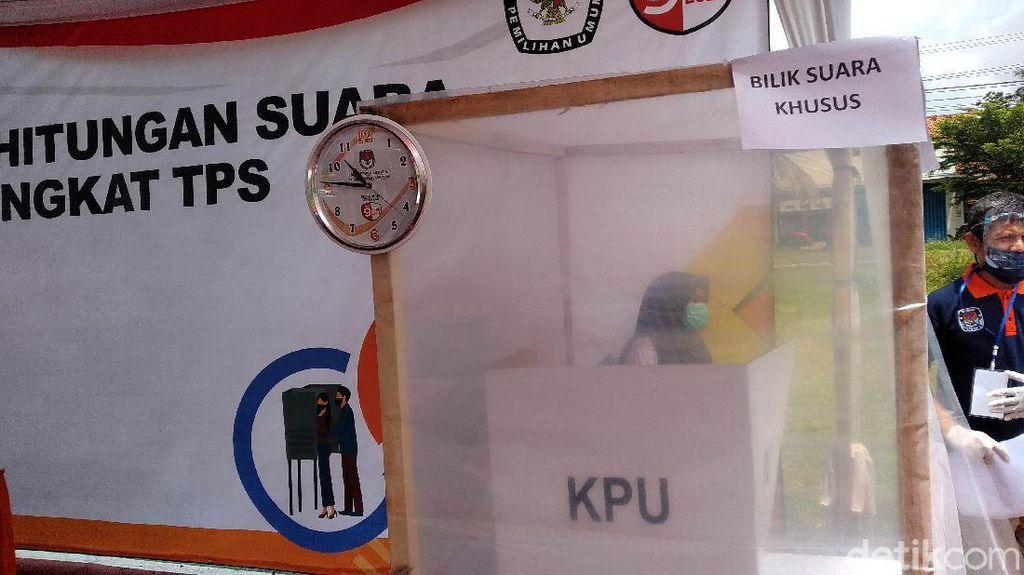 Pilkada Pangandaran, Pemilih Bersuhu Tinggi Tempati TPS Khusus