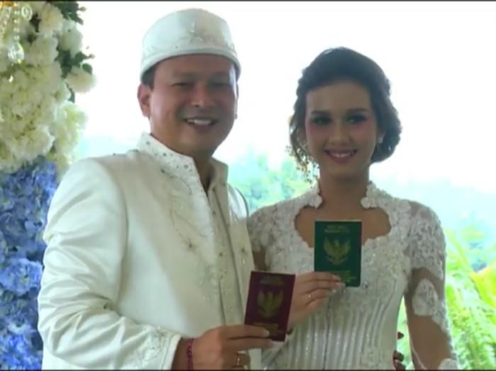 Pernikahan Bayu Biru Djarot dan Anastasia Adamova