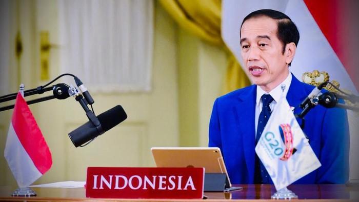 Jokowi Bicara Transformasi Besar Pascapandemi dan UU Cipta Kerja di KTT G20