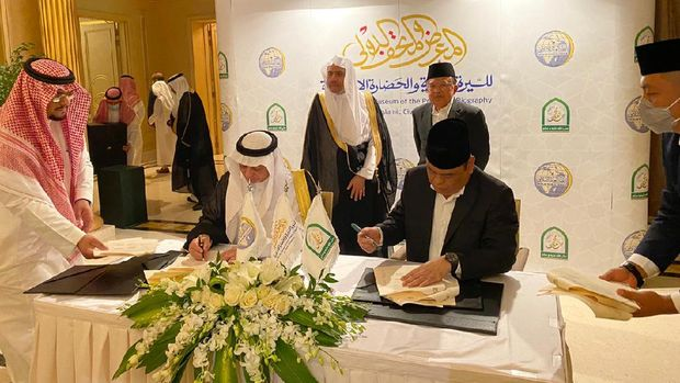 Momen Pertemuan JK denganImam besar Al-Azhar Syeikh Ahmad Al Tayeb
