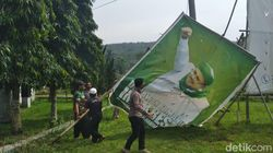 Baliho Habib Rizieq di Jabar: Diturunkan, Dibakar dan Berakhir di TPAS