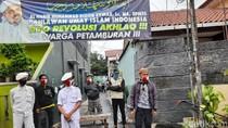 Dijaga Laskar FPI Lagi, Gang Rumah Habib Rizieq Tak Disemprot Disinfektan
