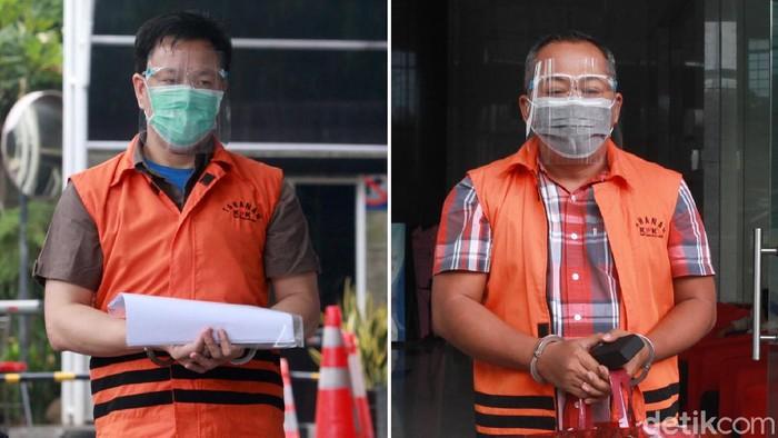 Dua tersangka korupsi, Hiendra Soenjoto dan Eryk Armando Talla  kembali menjalani pemeriksaan di Gedung KPK, Jakarta, Senin (23/11/2020).