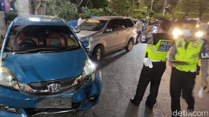 Kecelakaan di Jalan KH Ahmad Dahlan, kawasan Simpang Lima, Kota Semarang, Senin (23/11/2020).