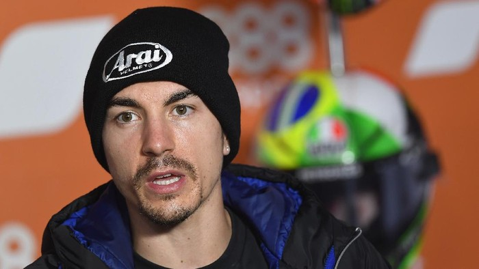 VALENCIA, SPAIN - NOVEMBER 05:  Maverick Vinales of Spain and Monster Energy Yamaha MotoGP Team speaks during the press conference pre-event ahead of the MotoGP of Europe at Comunitat Valenciana Ricardo Tormo Circuit on November 05, 2020 in Valencia, Spain. (Photo by Mirco Lazzari gp/Getty Images)