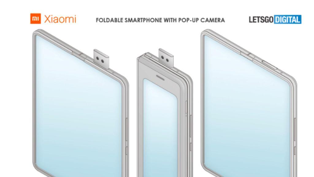 Xiaomi Patenkan Ponsel Lipat dengan Kamera Pop-up