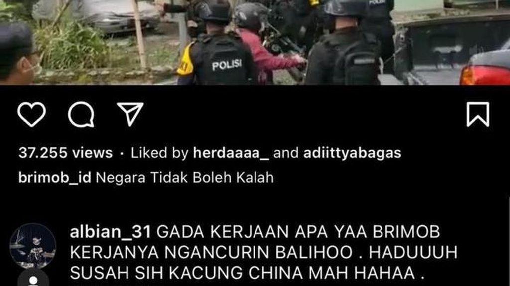 Pria di Bogor Sebut Brimob Kacung China Berujung Ditangkap Polisi