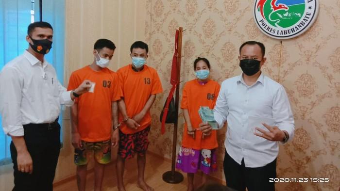 Sekeluarga di Labuhanbatu, Sumatera Utara ditangkap petugas kepolisian karena diduga mengedarkan narkoba (dok. istimewa).