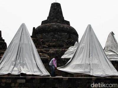 Borobudur Antisipasi Debu Vulkanik Merapi