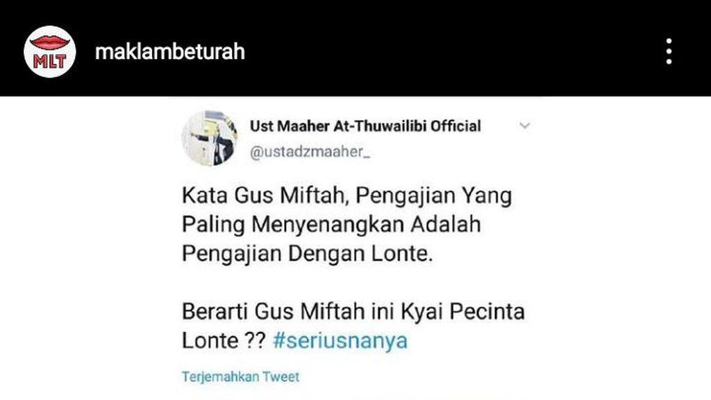 Pengajian dengan Lonte Gus Miftah Kembali Viral