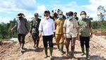 Wamenhan Tinjau Pembukaan Lahan Food Estate di Gunung Mas