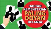 Daftar Kementerian Paling Doyan Belanja