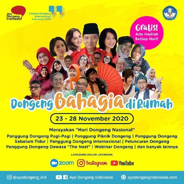 Festival Dongeng Internasional Indonesia (FDII) 2020 Digelar 23-28 November 2020