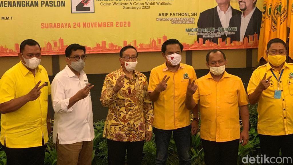 Akbar Tandjung Wajibkan Machfud Arifin-Mujiaman Menang Pilwali Surabaya 2020