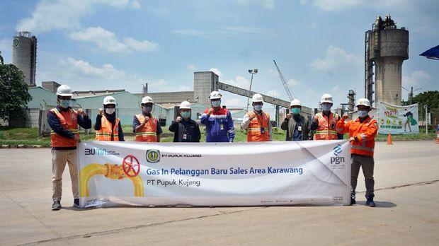 Penyaluran gas dari PGN ke Pupuk Kujang Cikampek. (Dok: Pgn)