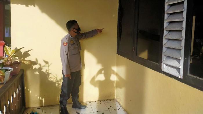 Rumah dinas camat di Luwu Utara Sulsel diserang orang tak dikenal (OTK) (dok. istimewa).