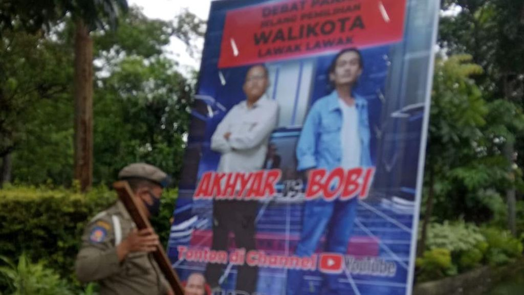 Tak Cuma Punya HMI, Satpol PP Medan Bakal Copot Semua Spanduk Langgar Aturan