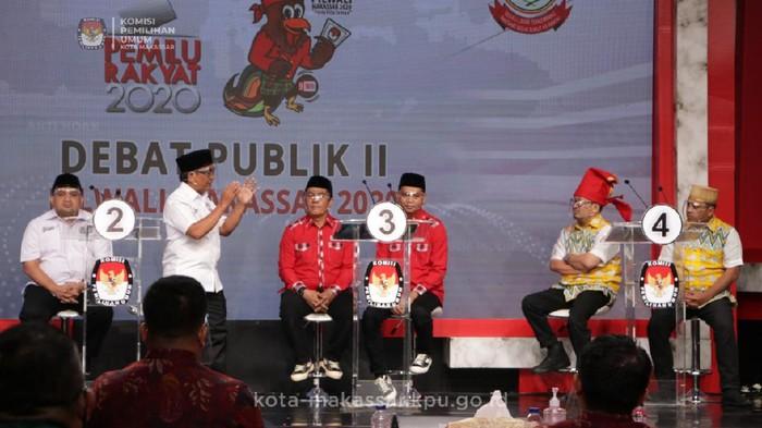 Debat kedua Pilwalkot Makassaar (dok. KPU Makassar).