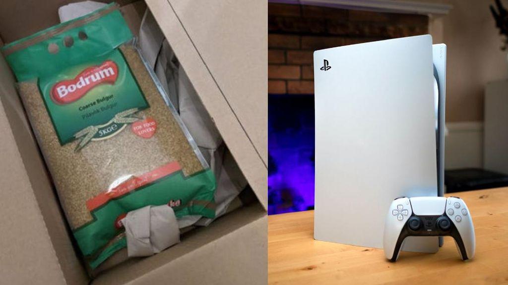 Duh! Beli PS5 Online yang Diterima Malah Beras dan Panggangan Daging