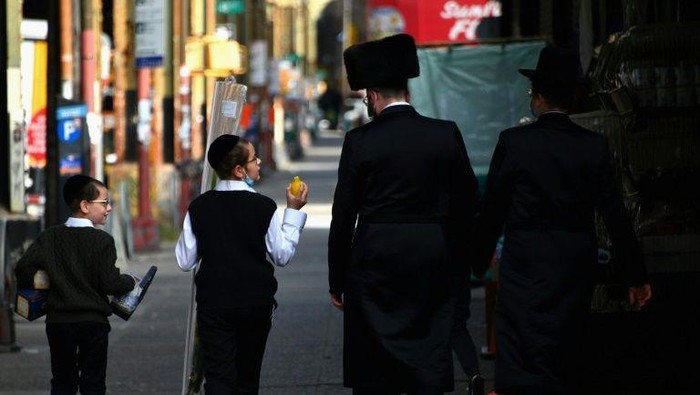 Ilustrasi Yahudi Ortodoks di New York (AFP Photo)