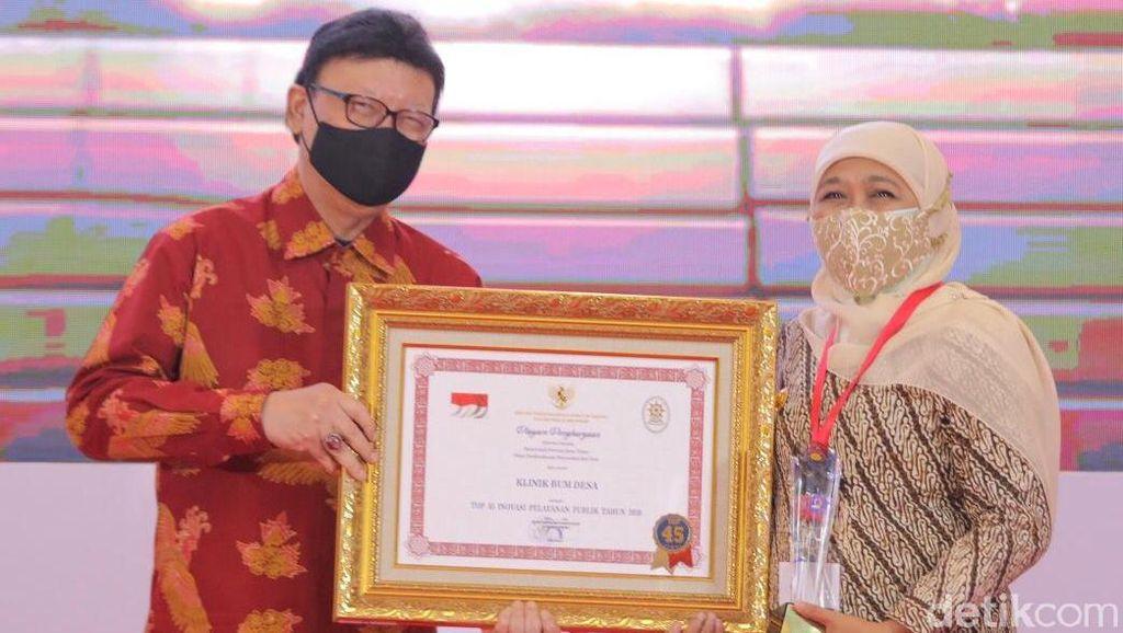 Jawa Timur Raih Dua Penghargaan, Gubernur Khofifah Semangat Ciptakan Inovasi