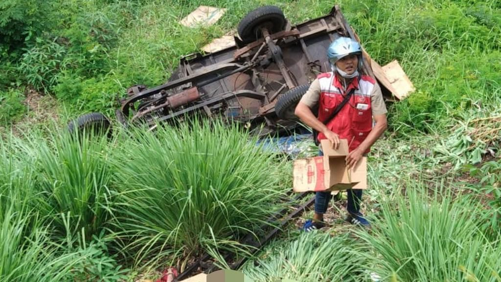 Motor Roda Tiga Terjun ke Jurang di Pasuruan, Pengendaranya Tewas