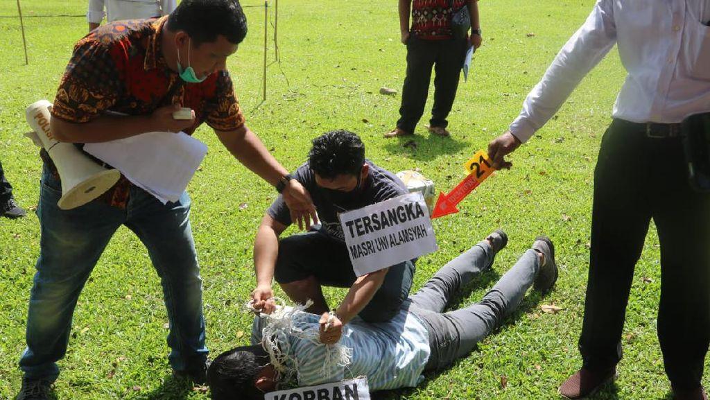 Rekonstruksi Pembunuhan Bocah dalam Goni di Sumut, 33 Adegan Diperagakan