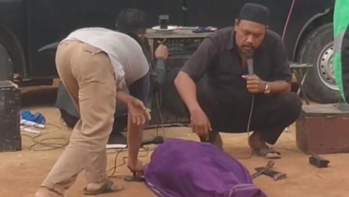 Viral video ritual pemanggilan arwah di Pemalang, Rabu (25/11/2020).