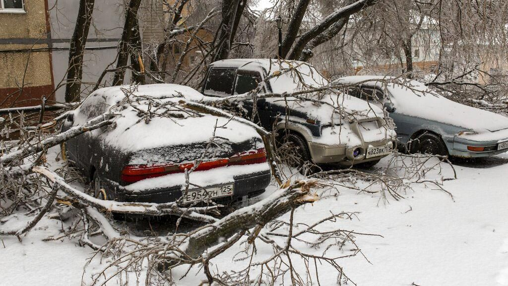 Begini Kondisi Rusia Usai Diterjang Badai Es