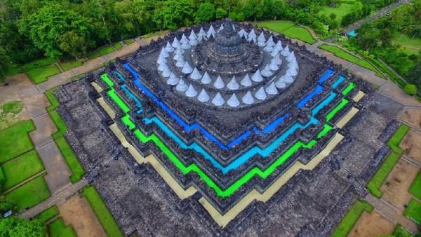 Berdasarkan usul mantan Mendikbud, Muhadjir Effendi, kepada presiden, rencananya akan dibangun boulevard menuju Candi Borobudur. Lalu rencana pembangunan juga meliputi pelebaran jalur utama yang melingkari candi. Istimewa/dok. Balai Konservasi Borobudur