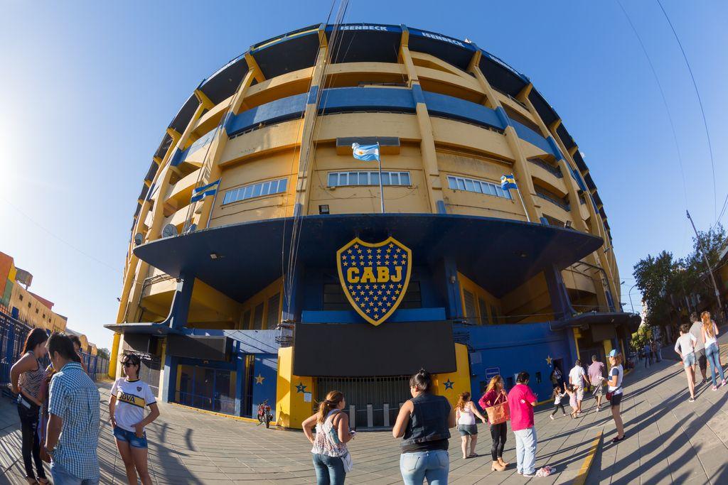 Pintu masuk maskar Boca Juniors Estadio Alberto J. Armando